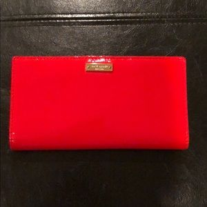 Kate spade patent leather wallet in gorgeous red!